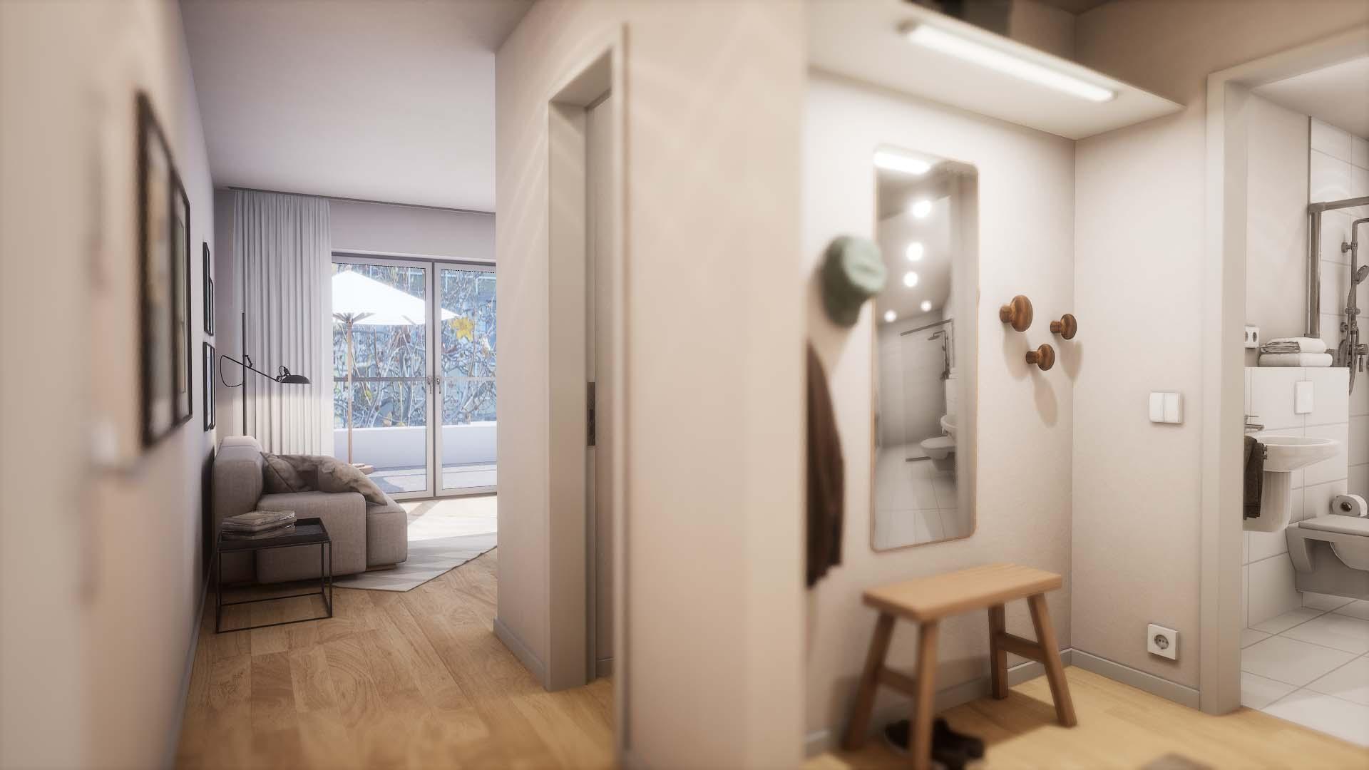 FOX CUBE 3 - Alt Friedrichsfelde - Eingangsbereich mit Garderobe